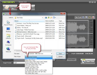 تحميل برنامج تقطيع الصوت download freetrim mp3