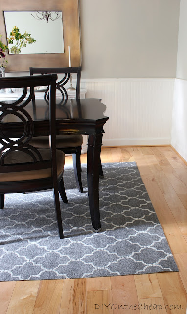 How to Stencil a Rug {for cheap!}