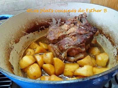 Les plats cuisin s de esther b r ti de porc aux patates - Cuisiner epaule de porc ...