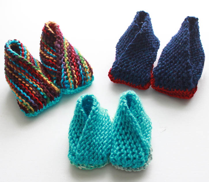 Wool Diaper Cover Knitting Pattern : Crossover Booties- Now With Additional Sizes [knitting pattern] - Gina Michele