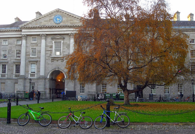 Bicycles at Trinity College, Dublin, Ireland