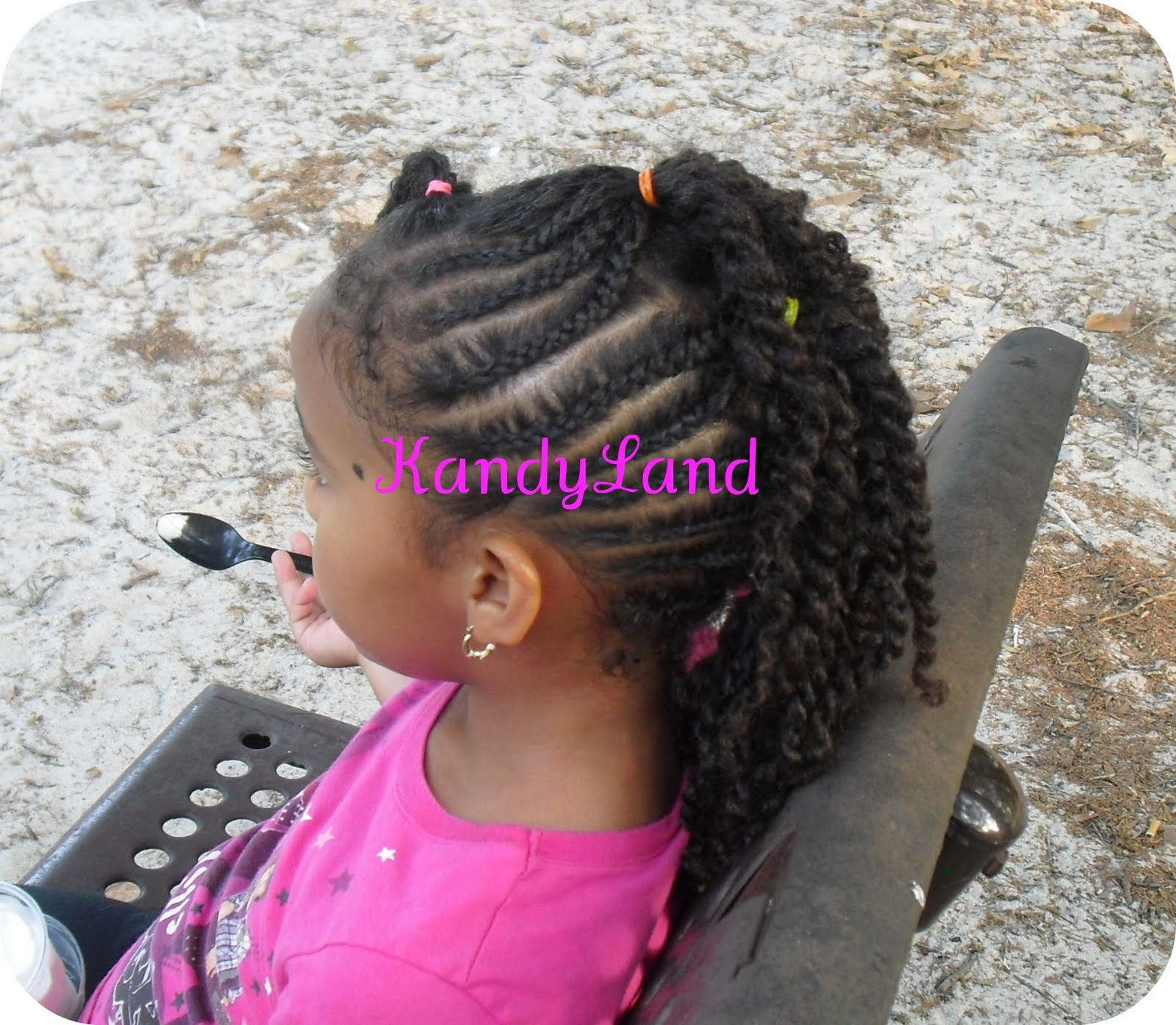 Flat Twist Mohawk Hairstyle