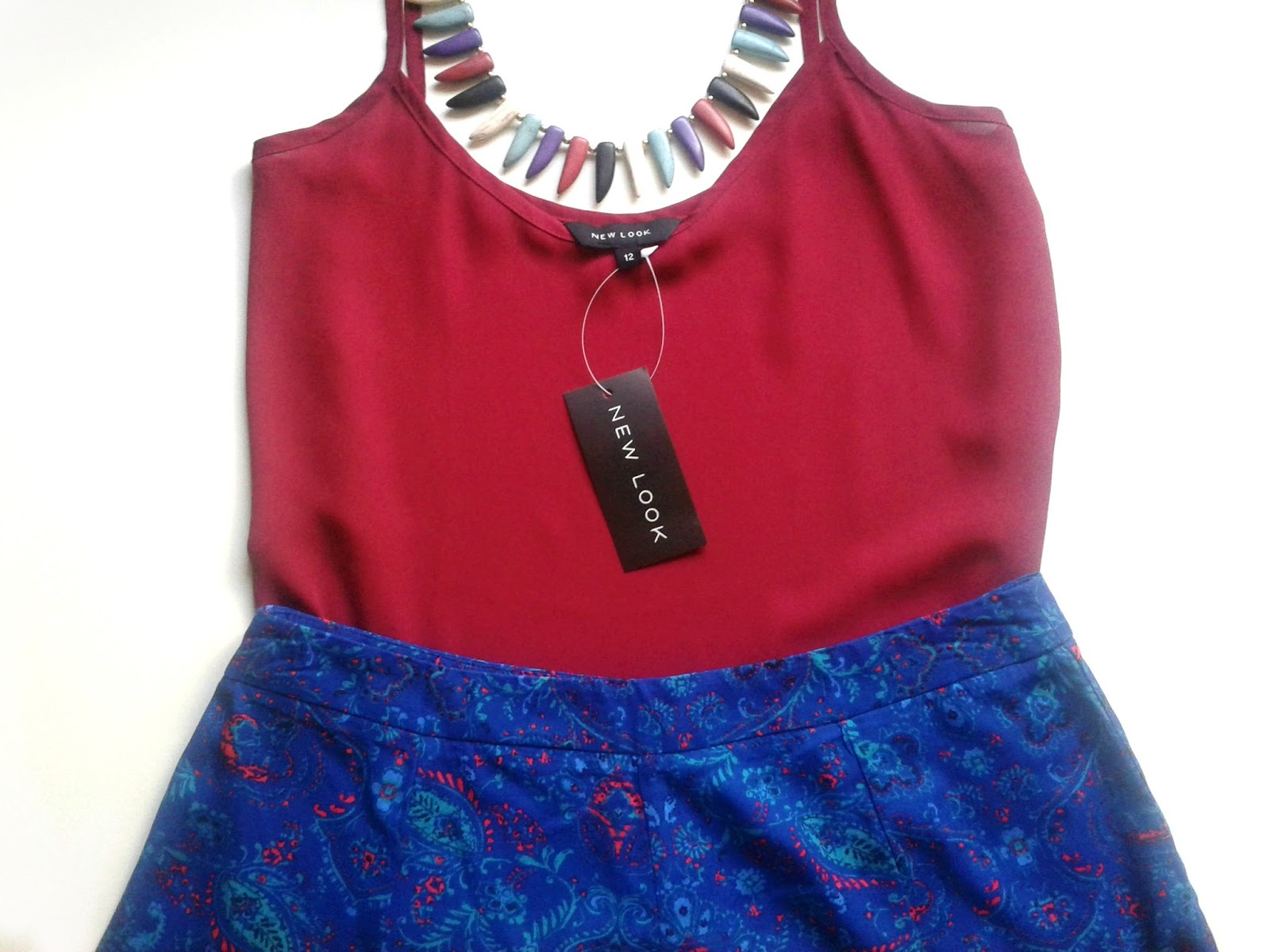 New Look Dark Red V Neck Cami Outfit Review