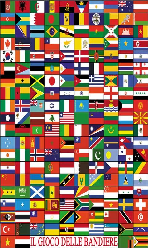 Monno solitario 39 e bandiere - Bandiere bianche a colori ...