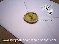 sellos de lacre cera sobres pergaminos iniciales