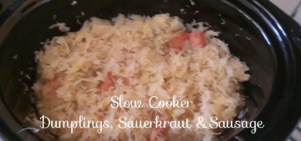 Working Mom Goes Green: Slow cooker dumplings, sauerkraut and sausage