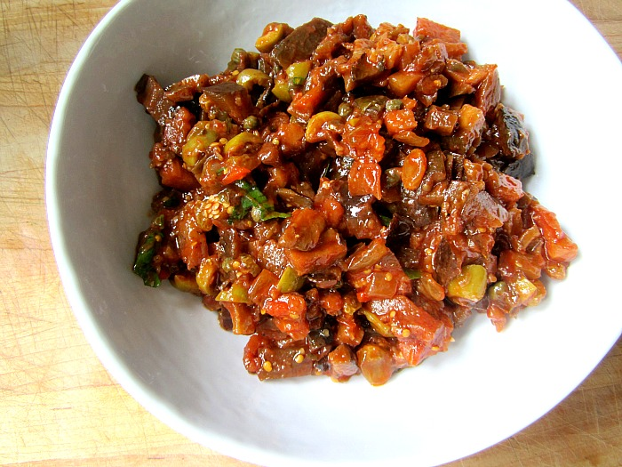Caponata w/ Roasted Peppers (Sicilian Eggplant Relish): (adapted from ...