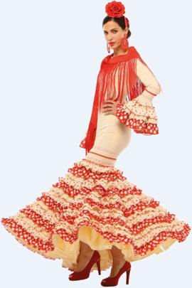traje de sevillana El Corte Inglés 2013
