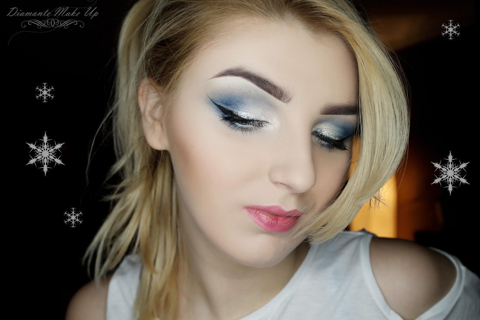 Zimowy makijaż z błyskiem kosmetykami Vipera