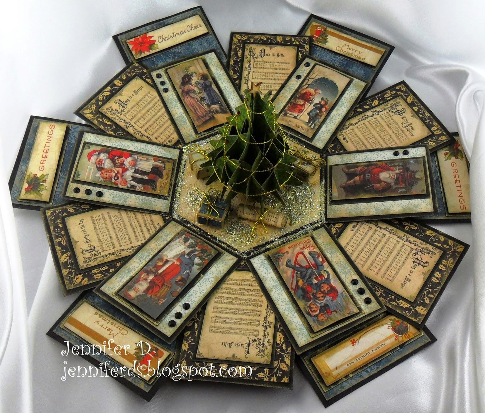 Jenniferd S Blog Hexagon Exploding Box Tutorial