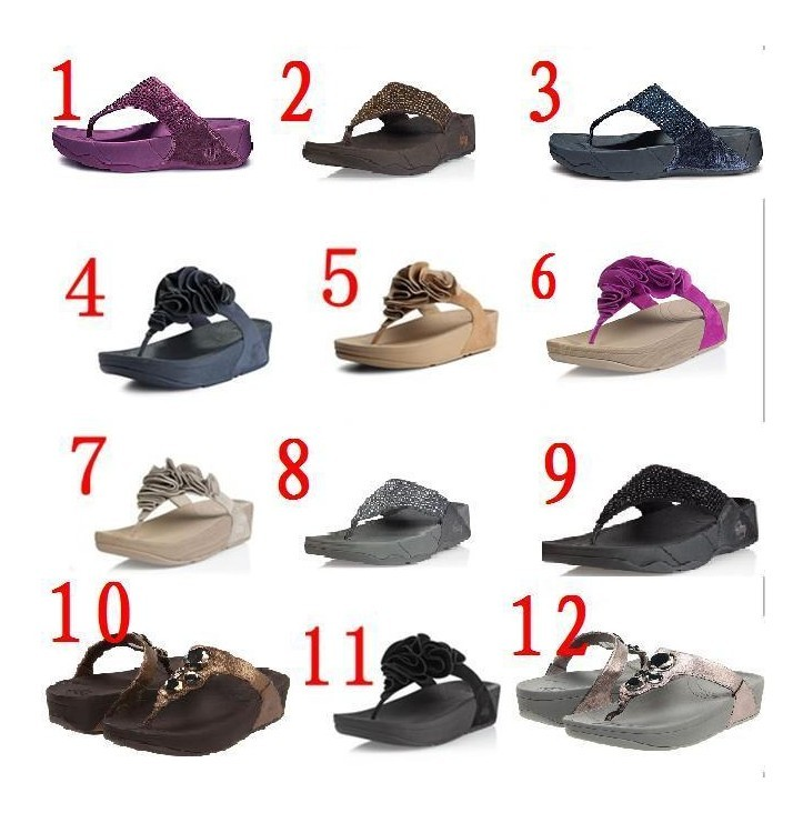 Fitow Flo's fitflop Fiorella four flower slimming flip flops sandals