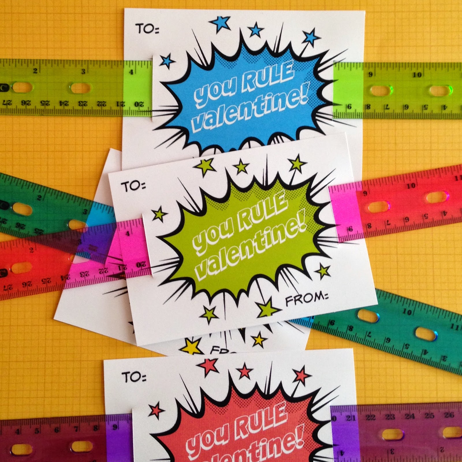 Little Bit Funky: You RULE! {a Free Valentine Printable!}