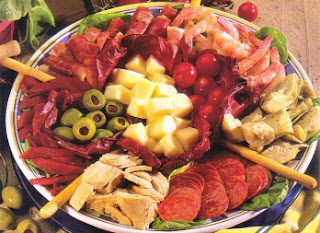 Picture of Spring Florida Antipasto on a white tray