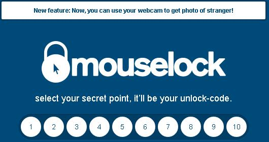 mouselock to prevent unauthorized access