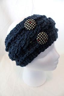 crochet cable headband