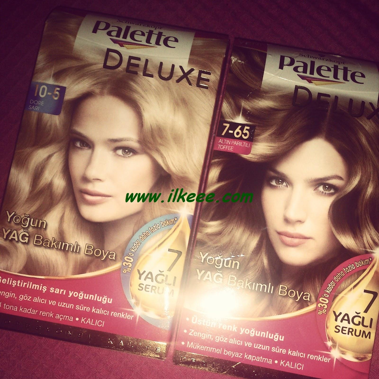 Palette Boya deneyenler - Palette Deluxe 10-5 - Palette Yoğun Yağ Bakımlı Saç Boyası - Palette Dore Sarı - Palette Altın Parıltılı Toffee