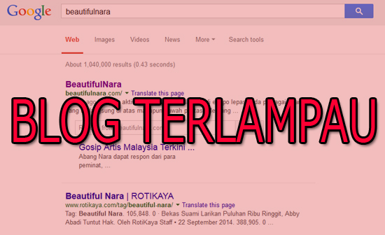 Blog Terlampau Atasi Beautifulnara