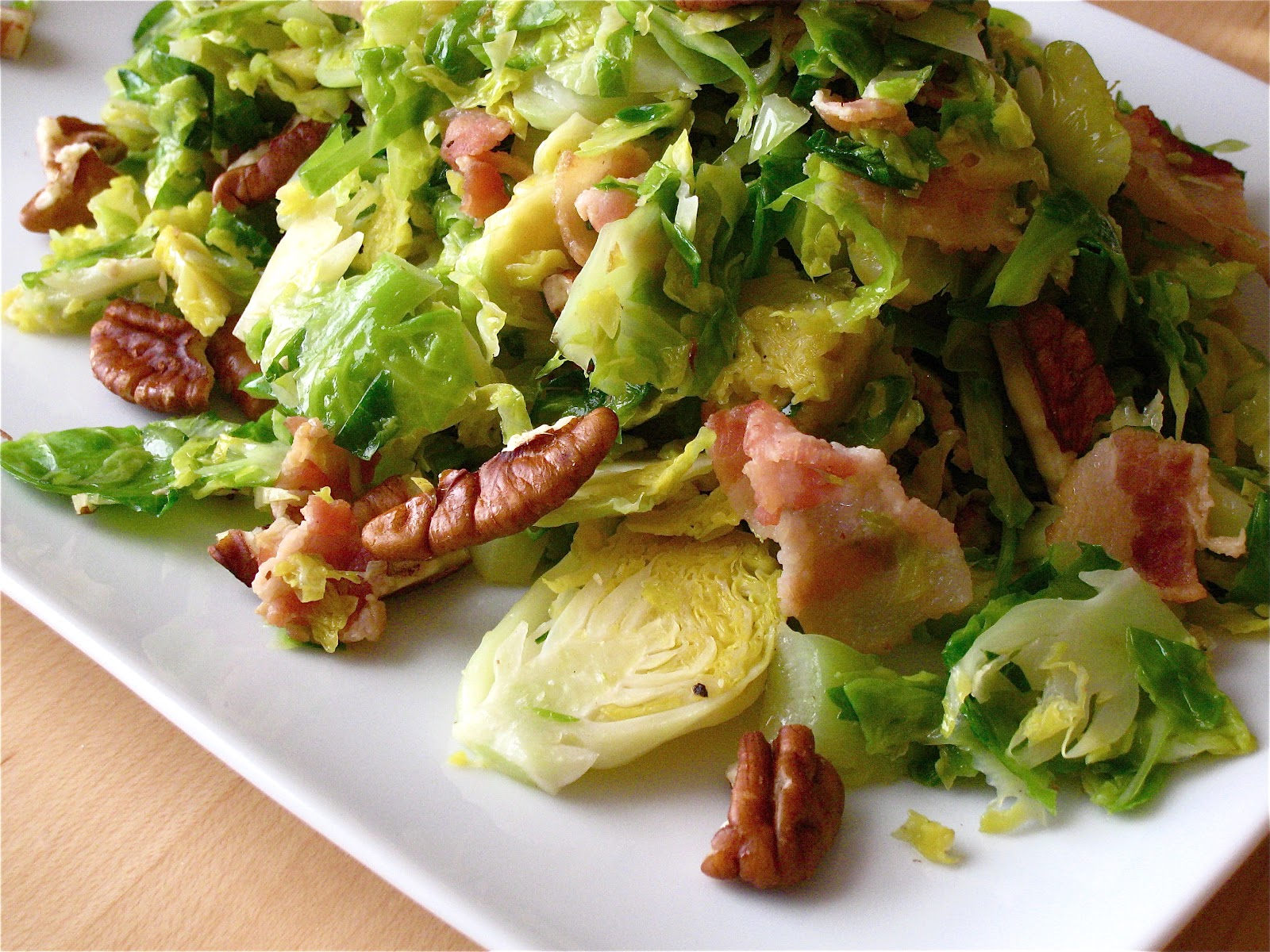 ... FIDDLER : Shredded Brussels Sprouts Sauté With Bacon and Pecans