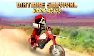 Screenshots of the Dirtbike survival: Block motos for Android tablet, phone.