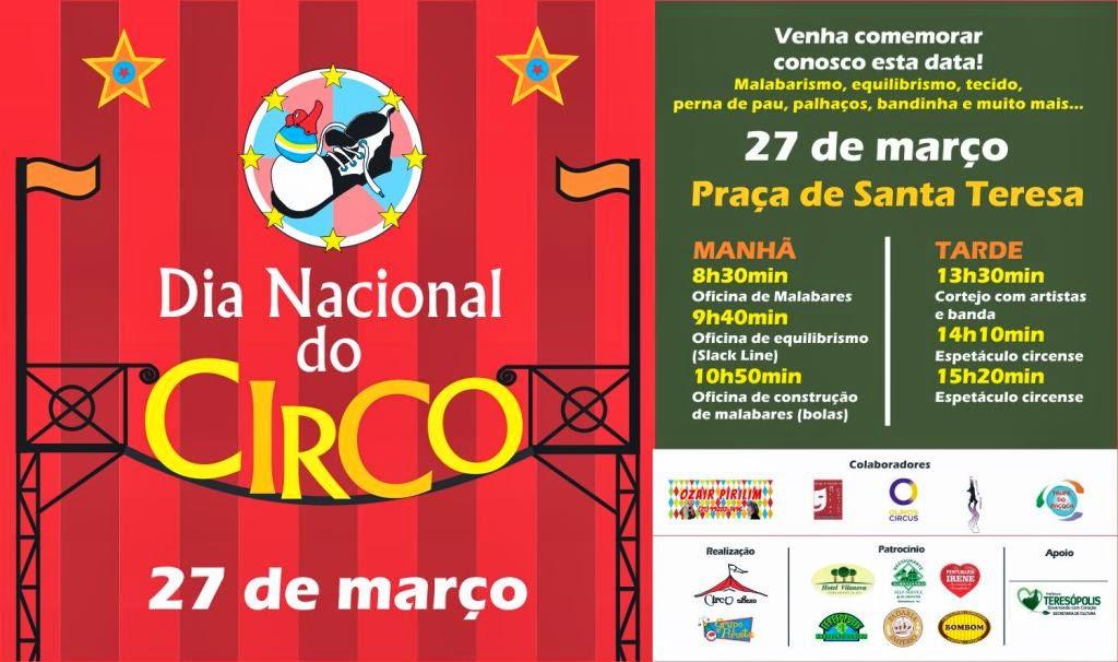 Secretaria de Cultura de Teresópolis promove intervenção no Dia Nacional do Circo