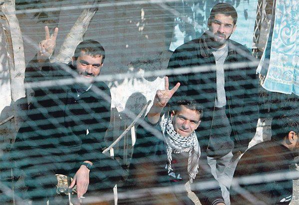 Prisioneiros palestinos em greve de fome