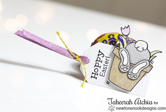 Hoppy Easter Bunny Tag by Taheerah Atchia | Bunny Hop Stamp set by Newton's Nook Designs