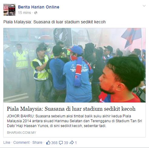 Bola Sepak Menyatukan Rakyat Malaysia