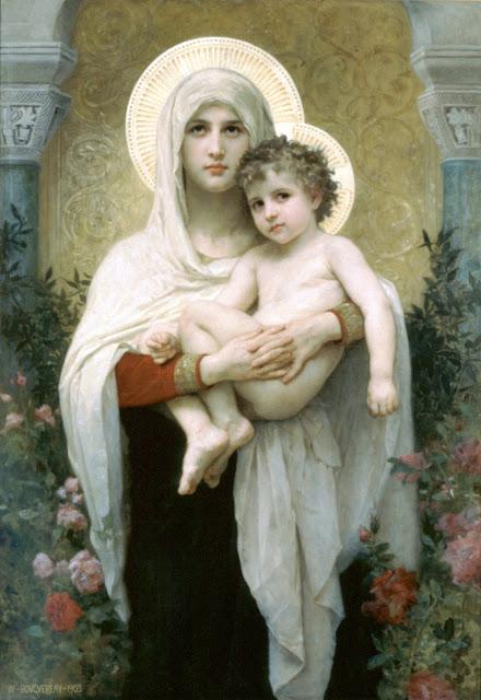 Madonna, William Adolphe Bouguereau,Virgin Mary