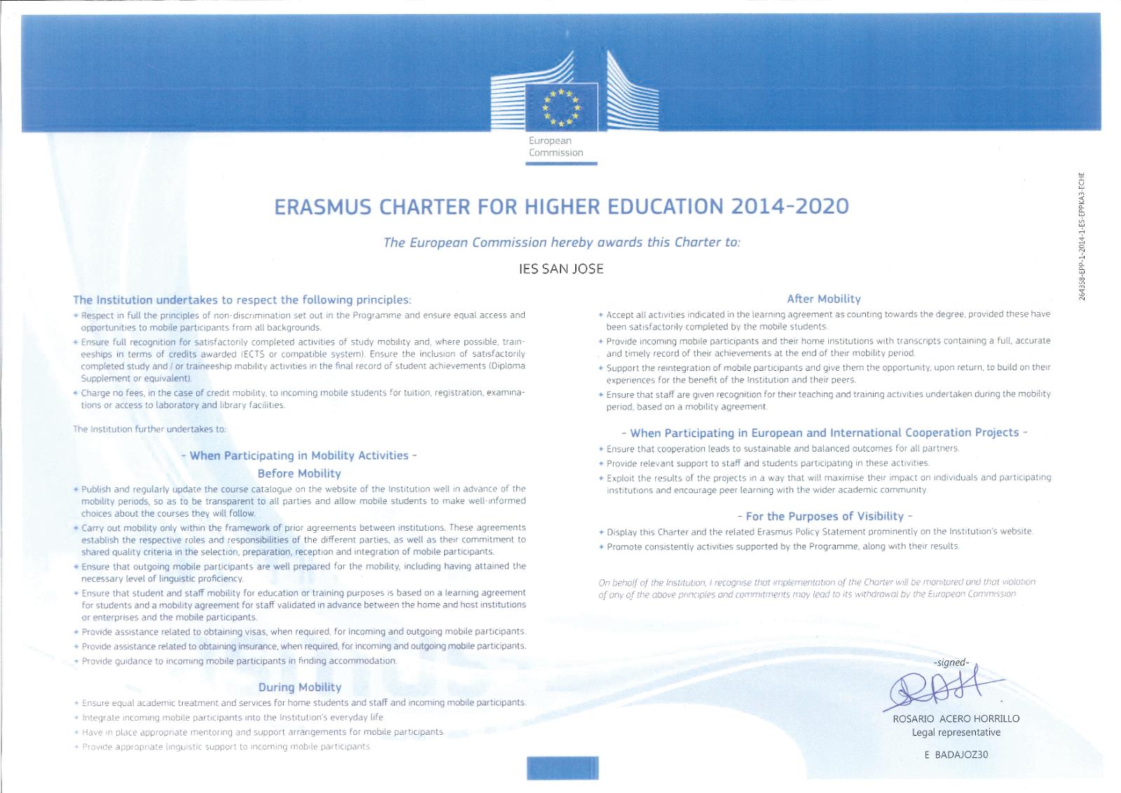 Carta Erasmus+