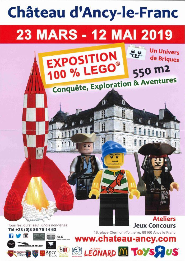 Exposition 100% Lego du 23 mars au 12 mai 2019 au Château d'Ancy-le-Franc