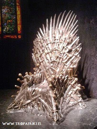 juego de tronos trono de hierro HBO exhibición