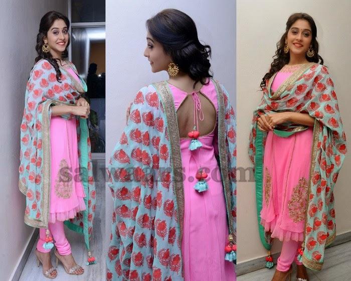 Regina Baby Pink Anarkali Salwar