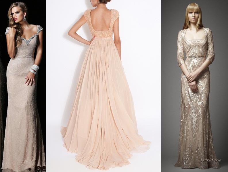 vestidos de festa nude creme   madrinhas de casamento