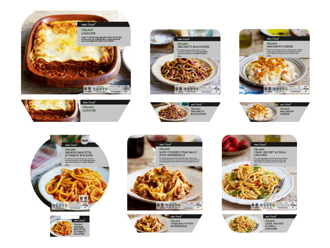 Tesco Finest Italian Ready Meals On Packaging Of The World