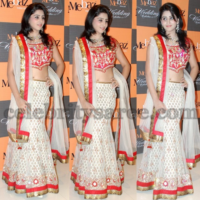 Shamili Wedding http://www.celebritysaree.com/2013/01/shamili-in-mebaz-lehenga.html