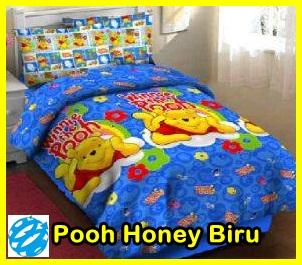 Sprei Motif Pooh, Sprei Kartun Pooh, Gorden Karakter Kartun Pooh