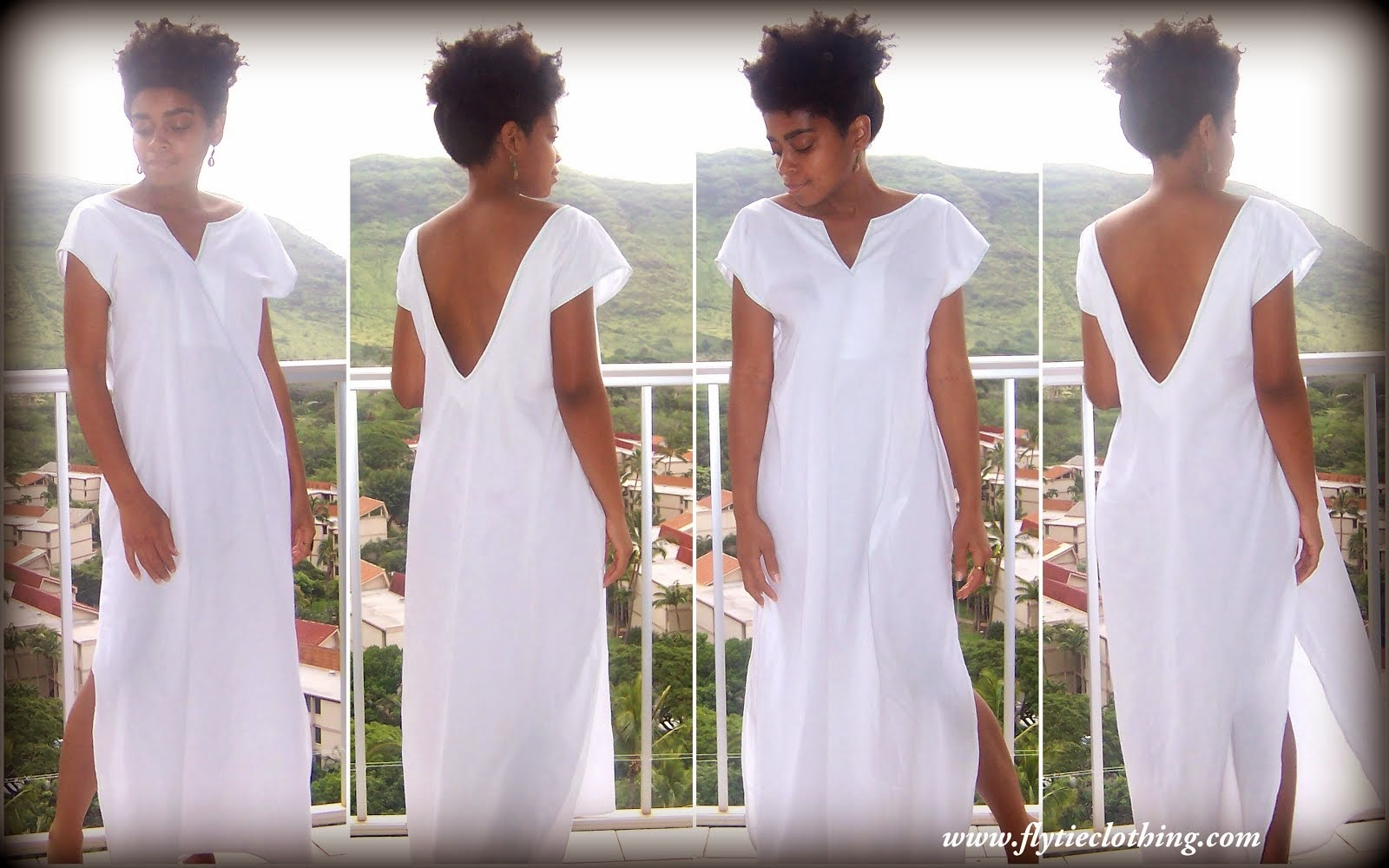 White Cotton Loungewear Dress