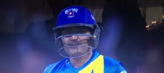 Batsmen have different ways to vent out their tension at the crease – well, Virender Sehwag sings Kishore Kumar songs.   The Delhi batsman was caught by the stump camera during second Cricket All-Stars T20 league match humming hit number Chala Jaata Hoon Kisi Ke Dhoon Mei.