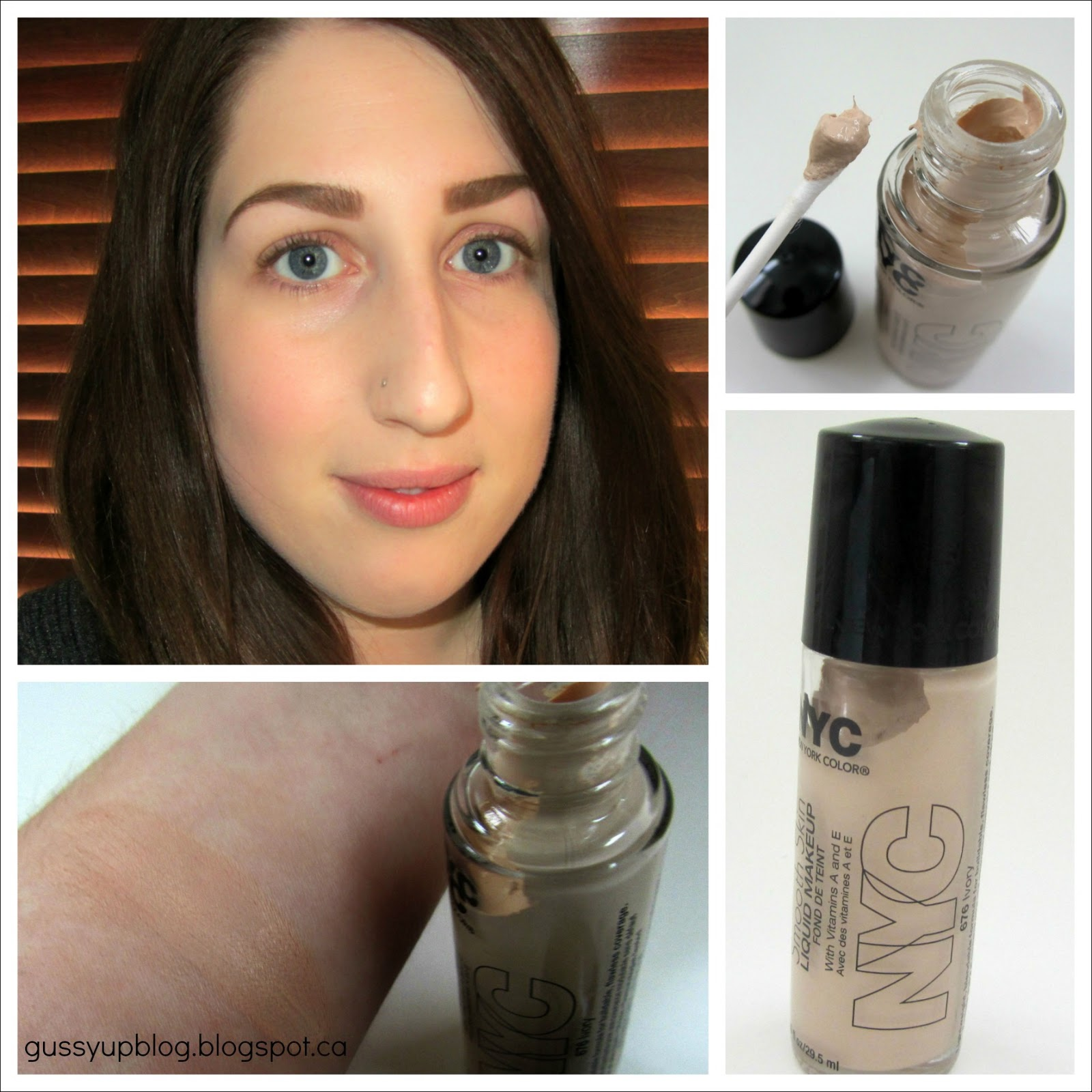 NYC Smooth Skin Liquid Makeup, No. 676 Ivory, Review and Swatches