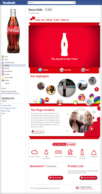 Coca cola fan page