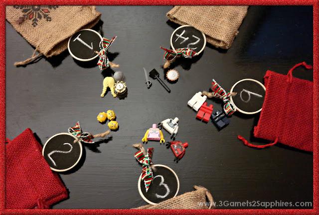 Easy DIY LEGO Minifigure Advent Calendar  |  www.3Garnets2Sapphires.com