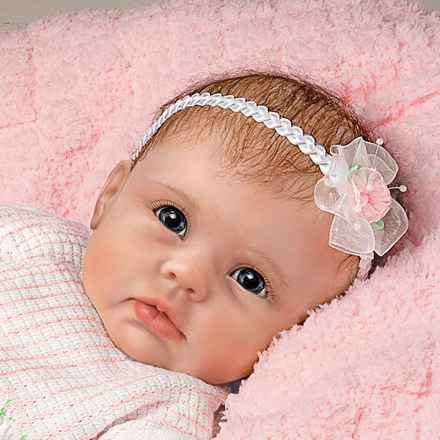 "So Truly Real ""Olivia's Gentle Touch"" Lifelike Baby Girl Doll By Linda Murray by Ashton Drake"