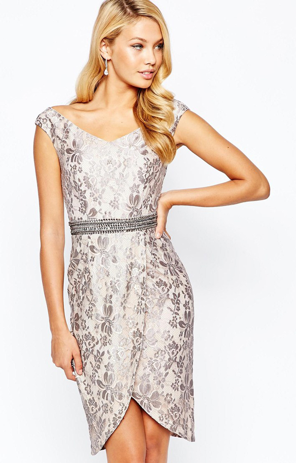 http://www.asos.com/Little-Mistress/Little-Mistress-Bardot-Pencil-Dress-in-Metallic-Lace-with-Wrap-Skirt-and-Embellished-Waist-Detail/Prod/pgeproduct.aspx?iid=5721489&cid=8799&sh=0&pge=1&pgesize=204&sort=1&clr=Metallic+mink&totalstyles=3442&gridsize=3
