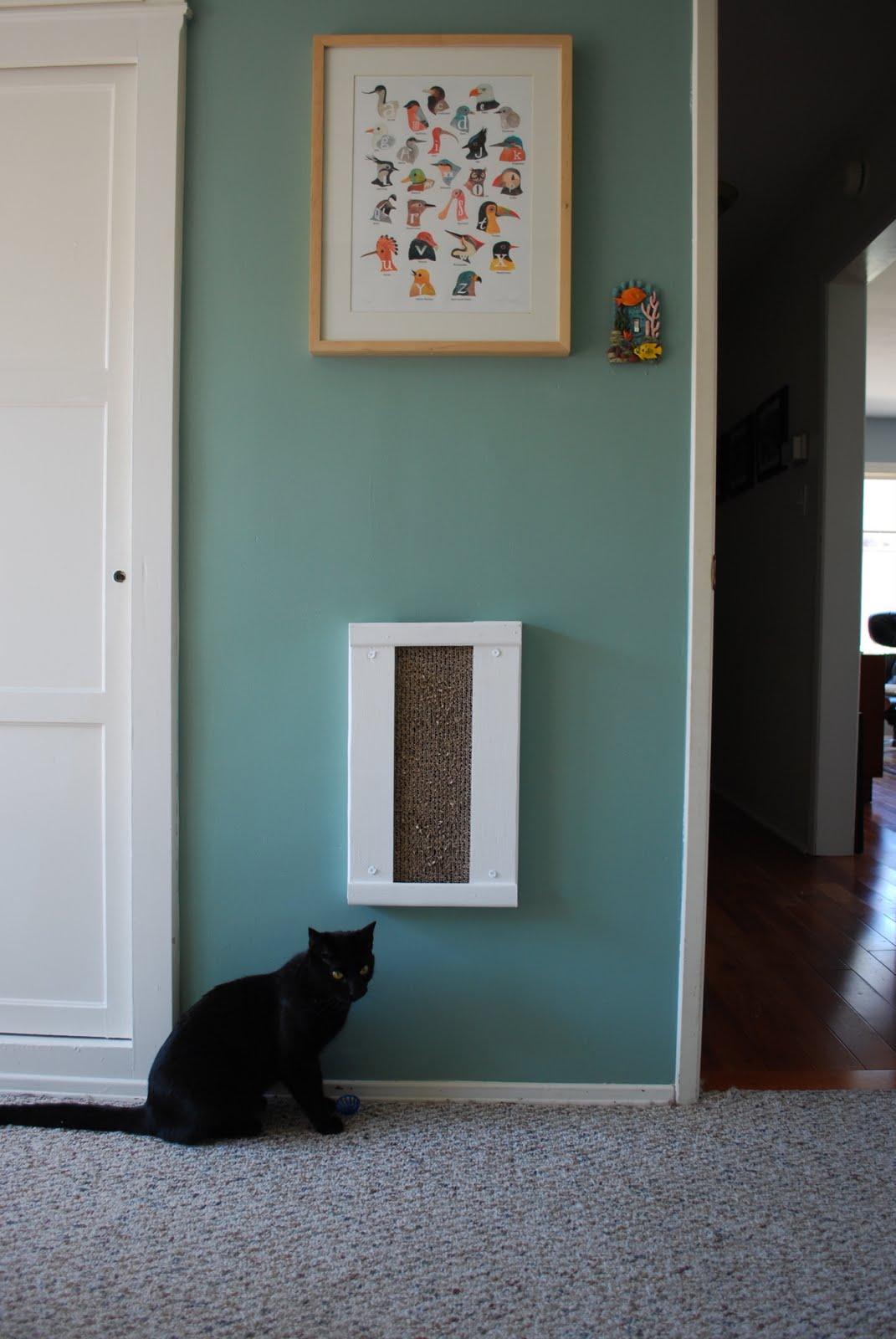 Kraken crafts cat scratcher - Wall mounted cat scratcher ...