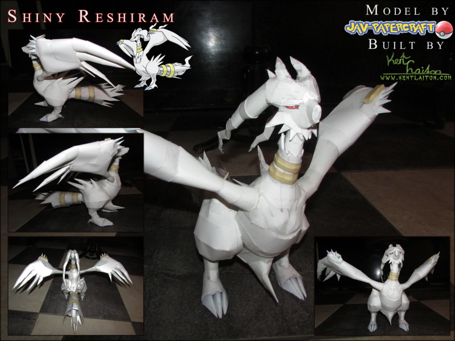 Pokemon Reshiram Paper Model