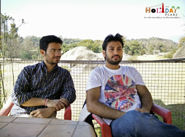 Geetansh and Gagan waiting for breakfast