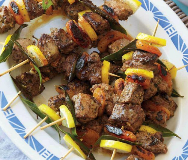Lamb and Apricot Kebabs