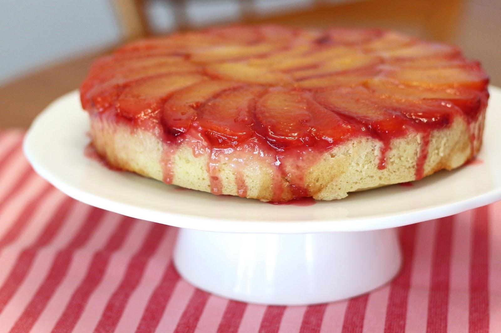 gluten free vegan plum upside down cake - Sarah Bakes Gluten Free