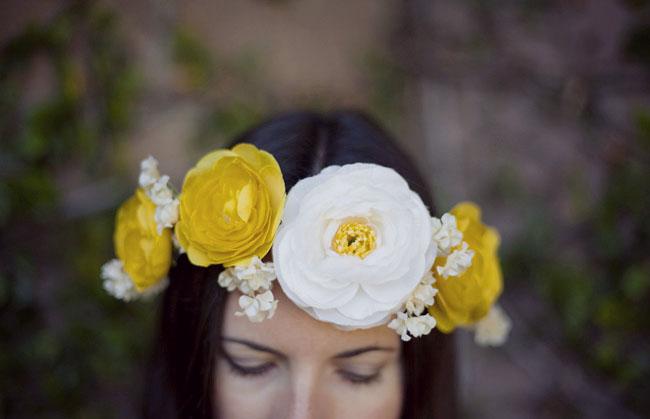 Сделать своими руками цветок на голову
