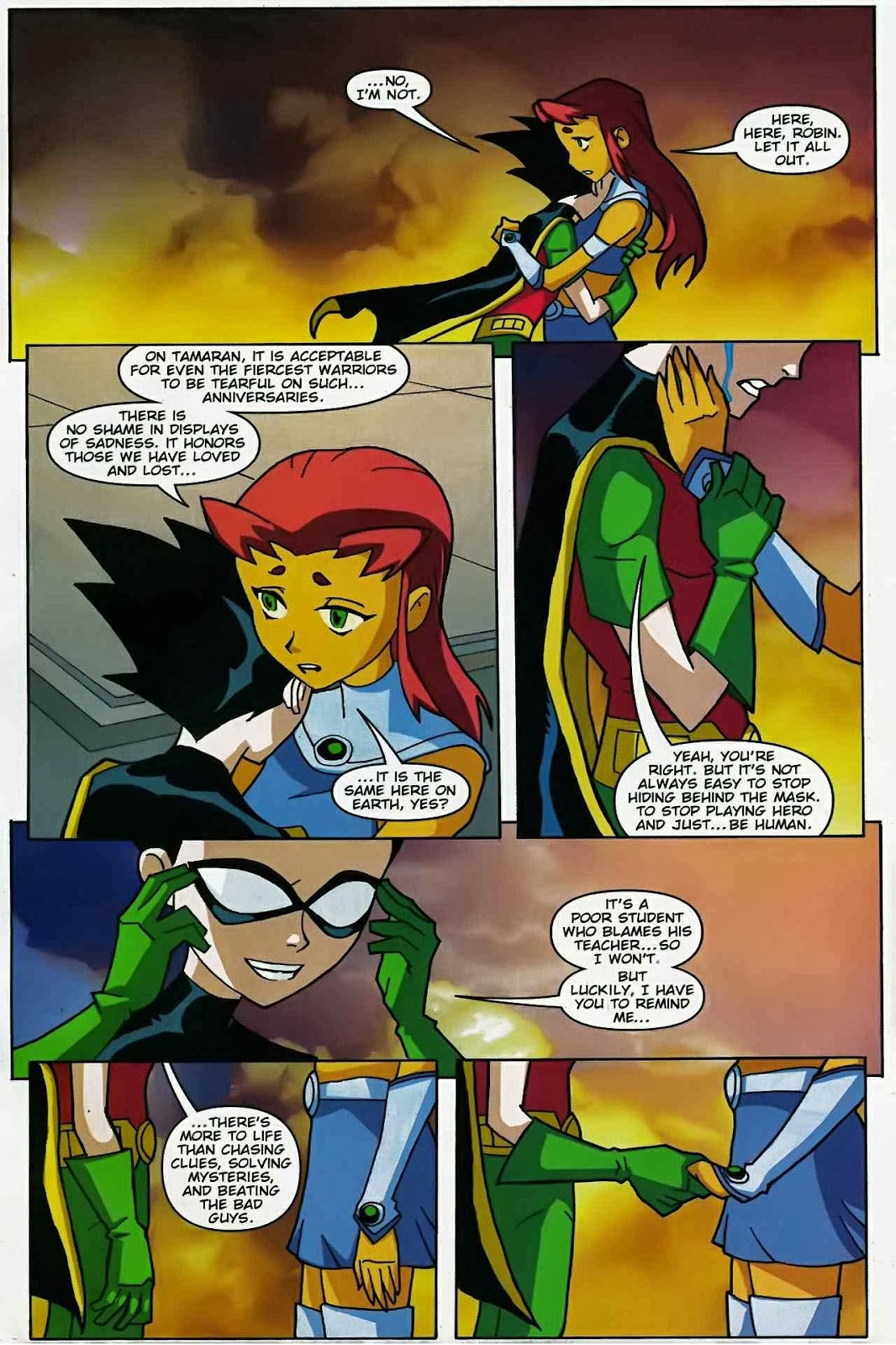 Book series teen titans go issue 47 regarding robin one morning